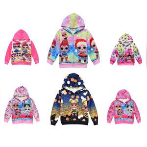 7color girls Christmas series Clothing cartoon Doll Shirts Tshirt Girl sports Long Sleeve T-Shirts Children Kids hoodies Sweatshirt Tops