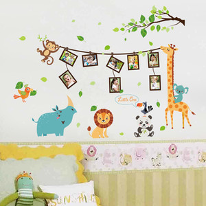 Wholesale New Animal Cartoon Photo Frame Wall Adhesive Bedroom Children s Room Wall Adhesive