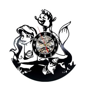 Mermaid Cute Vinyl Clock Bedroom Wall Decor Gift