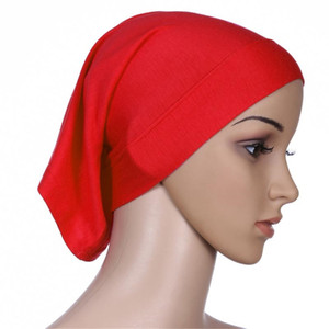 20 Colors Pretty Soft Stretchble Muslim Beautiful Inner Hijab Caps Islamic Underscarf Hats