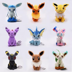 Wholesale Pokemons Eevee family Plush toys Soft stuffed cute Grab machine Doll For Children birthday best gift high quality