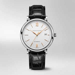 man luxury watch mens designer watches 2813 automatic movement self-wind sweep Wristwatches black cow leather strap montre de luxe