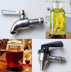 Wholesale SUS Stainless Steel Home wine beer juice tap faucet plastic spigot for keg barrel inlet silver color