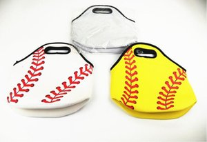 Wholesale Baseball Lunch Bag Box Neoprene Picnic Bags Sports Softball Tote Insulated Cooler Bags Food Carrier Storage Bags Waterproof Handbags