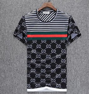 Wholesale summer ss European American style tag snake print clothing men fabric letter polo g t shirt collar casual women tshirt tee shirt tops