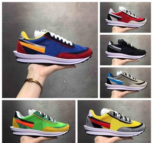 Wholesale New sacai LDV Waffle Daybreak Trainers Shoes For Men Women fashion designer Breathe Tripe S Sneakers Sports Running Shoes
