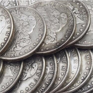 Wholesale silver pricing resale online - 26pcs Morgan Dollars quot O quot Different Dates Mintmark Silver Plated Copy Coins metal craft dies manufacturing factory Price