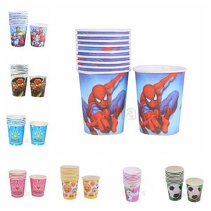 Wholesale 10pc set disposable water cup Licorne car 12 different patterns disposable water cup children's party supplies household water cup T3I5095