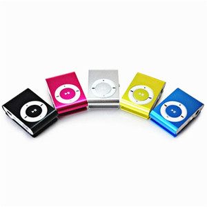 Wholesale mini metal clip sport mp3 player resale online - 8 Colors Mini Clip MP3 Player with Earphone USB Cable Retail Package Box Support Micro SD TF Card GB Sport Mp3 Metal mp3 Players