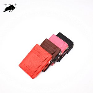 Wholesale 2019 Women Wallet Genuine Leather Short Coin Purse Fashion Card pocket coin purse