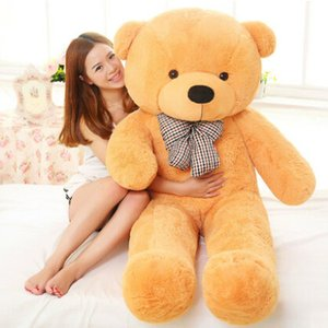 Wholesale Big Size cm for Kids Stuffed Lovely Teddy Bear Plush Toy Big Embrace Bear Children Doll Girls Gifts Birthday gift