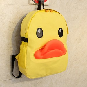 Wholesale Lovely yellow duckling double shoulder bag big yellow duck Bag Girl middle school student cartoon leisure duck