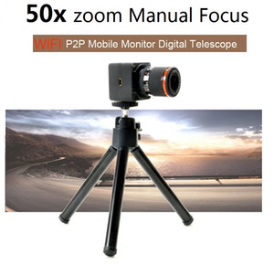 Wholesale APP Control Wireless Video Recorder Digital Binoculars WiFi Camcorder P2P 50X Zoom Mini Camera