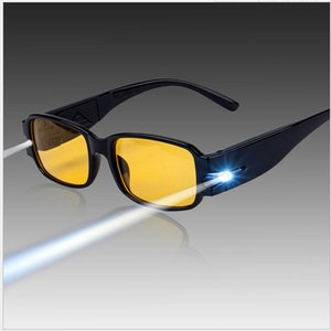 Wholesale Adjustable Magnetic Therapy Health Protection sunGlasses man woman LED Light up With Money Detect Night vision glasses s006