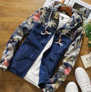 New 2019 Fashion Floral Jacket Brand New Spring and Summer Slim Fit Mens Casual Varsity Jackets and Coats Plus Size 4XL