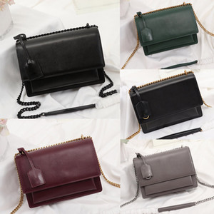 Wholesale girls bag chain for sale - Group buy Fashion luxury designer handbags Sunset bag women shoulder bags designer crossbody bag High quality chain flap bag luxury handbags purses