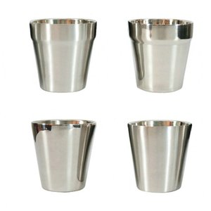 Wholesale 190ml Double Layer Beer Mugs Hot Sales Wine Cup Stainless Steel Coffee Cups Tea Milk Mugs Party Bar Tools