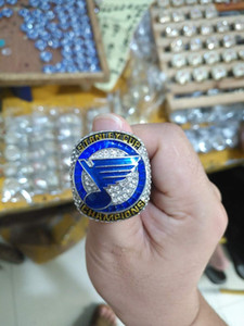 2019 St. Louis Blues Championship Ring Fashion men's ring Fans Best Gifts size 8-14# pretty ring