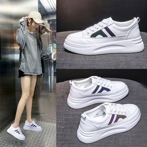 Wholesale flange resale online - Small White Shoes Woman Autumn Joker Student Ins Tide Sneakers Leisure Time Flange Sneakers