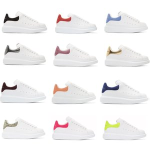 Wholesale Top Luxury Designer Shoes Womens Mens trainers White Leather Platform Shoes Flat Casual Party Wedding Shoes Suede Sports Sneakers Size