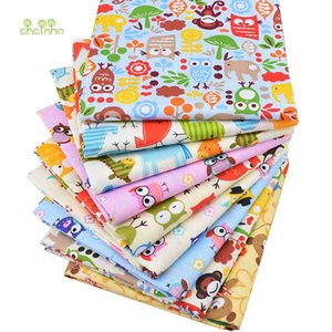 Chainho Cartoon Print Twill Cotton Fabric For DIY Quilting Sewing Tissue Of Baby&Children Sheet,Pillow,Cushion,Curtain Material