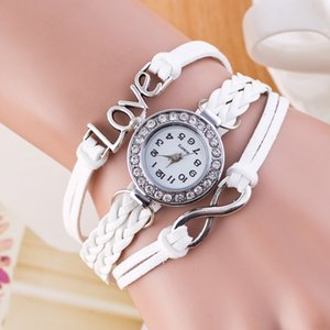 Wholesale Hot New Infinity Love Bracelets Leather Women Wrap Watches Designer Bracelet Weave Jewelry Bracelets Color