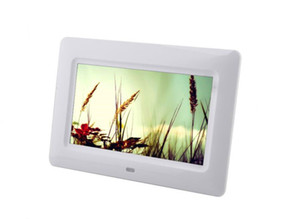 Wholesale mp4 movie video resale online - 7inch TFT LCD Digital Photo Frame Album MP4 Movie Player Alarm cCck JPEG JPG BMP MMC MS SD MPEG AVI Xvid Free