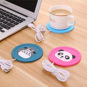Wholesale USB Cup Pad Warmer Heater Cartoon Silicone Heater for Milk Tea Coffee Mug Hot Drinks Beverage Cup Mat Pad best gift LX5136