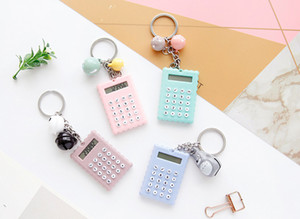 Fashion Creative Cute Cookies Style Mini Pocket Key Chain Calculator 8 Digits Display Portable Office Supplies Creative Christmas Gift on Sale