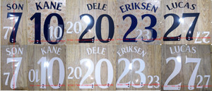 2018-2019 KANE ERIKSEN SON LUCAS DELE nameset name numbering soccer patch soccer badge