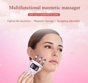 Wholesale 2019 Multifunctional Face Lifting Massager Infrared Heating Magnetic Vibration Wrinkles Removal Anti aging Face Lifting SkinCare USB