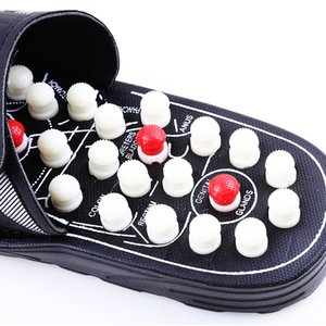 Hot Style Acupoint Massage Slippers Sandal For Men Feet Chinese Acupressure Therapy Rotating Foot Massager Shoes Unisex
