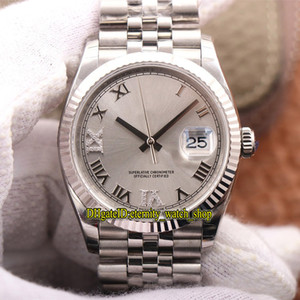 meilleurs designers regarder achat en gros de-news_sitemap_homeEW V2 Meilleure version Datejust mm Cal Automatique Mens Montre Montre Article argenté Sangle d acier Strap de luxe Designer de luxe