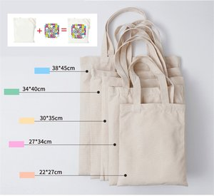 1PC High-Quality Women Men Handbags Canvas Tote Bags Reusable Cotton Grocery High Capacity Shopping Bag Accept Personal Customization on Sale