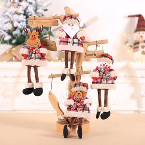 Wholesale Christmas Snowman Hanging Doll Christmas Decoration Articles Christmas Tree Ornaments Festival Scene Decorations Gifts Small Pendant L523