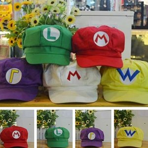 Wholesale New fashion Octagonal hat anime character style hat cute beautiful Super Mario Bros Cosplay hats Multi Colors Cartoon Accessories T7I5052