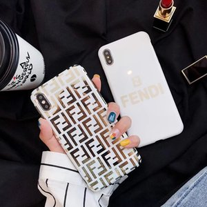Wholesale Fashion Brand letter F Phone Case for iPhone X Xs Max XR High quality TPU soft Back cover Cases for iphone plus plus s plus shell