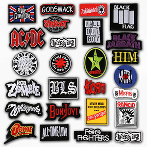 Band Rock Music Embroidered Patch Applique Cute Patches Fabric Badge Garment DIY Apparel Accessories Badges