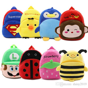 Wholesale New Plush Backpack Cute Cartoon Kids small student s bag Toy Mini School Bag Kindergarten Boy Girl Baby best gift