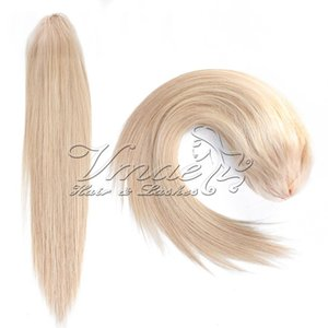 Wholesale claw clip ponytail blonde for sale - Group buy Claw Clip Drawstring Ponytail Remy Russian Blonde Cuticle Aligned Virgin Natural Straight g to inch Horsetail Human Hair Extensions