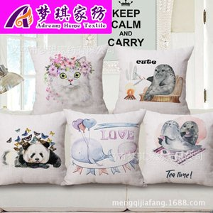 Lovely Cartoon Pillow Concise Clear Fresh Air Cotton Cushion Nation Literature Wind Back Cushion Customized on Sale