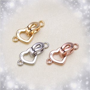 Wholesale Clasps Hooks For Jewelry Making Necklace Bracelet Flat Leather Cord Crimp Ends End Connectors Clasps Necklace Findings K06