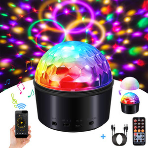 Disco Party LED Stage Light with Remote Control&USB9 Colors DJ Lights Wireless Phone Connection Sound Disco Party Lights