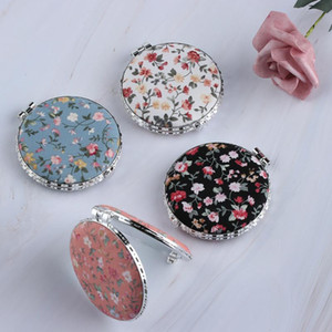 Wholesale folding pocket makeup mirror for sale - Group buy Random Color Women Portable Folding Round Heart Square Oval Pocket Mirror Flower Two side Makeup Mirrors Cosmetic Tools