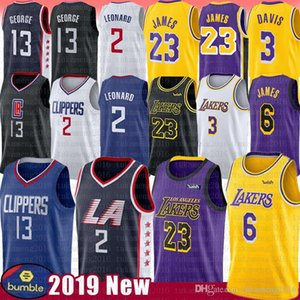 Kawhi NCAA 2 Leonard Jersey LeBron 6 James Anthony 23 Davis Paul 13 George 2019 New Mens Embroidery University Basketball Jerseys