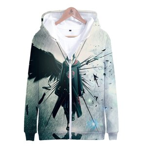Wholesale Best selling Anime Naruto D Printing Leisure zipper hoodies Fashion Cool Zipper hoodies popular naruto series