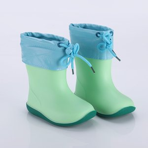 Infant Children Shoes Toddler Infant Kids Baby Boys Girls PVC Rain Boots Waterproof Non-Slip High Quality Casual Shoes 2019 T191015 on Sale