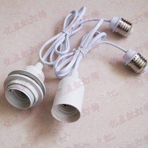 Wholesale Extension Cord E27 Lamp Holder Lampshade Hanging Wire Connecting Converters Adapters E26 E27 Screw Light Socket Adapter