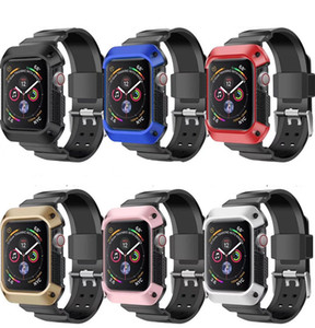 for Apple Watch Series 5 4 Tough Armor Protective Case Band Strap Cover iWatch 40 44mm