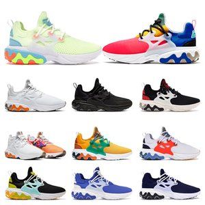 Wholesale New react presto BEAMS men women running shoes DHARMA Triple Black Phantom Red Barely Volt mens breathable trainers sports runners